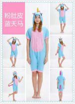 Летний пижамы кигуруми для взрослых Розовый лощадь Y0139