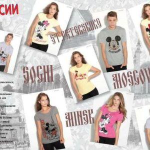 Футболки с рисунком, Disney производитель, лицензи. Предлагаем эксклюзивную коллекцию качественных, модных, стильных, подарочных футболок с Уникальными Лицензионными принтами от Компании Disney, изготовленных в России, на нашей фабрике
