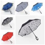 Зонт-трость радуга (механ) и зонт наоборот оптом 1