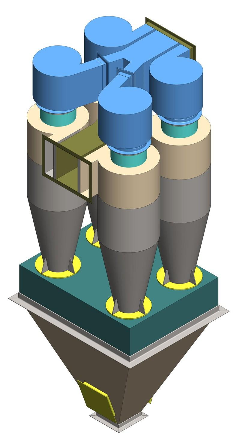 Циклон применяется для очистки промышленных выбросов от крупнодисперсной пыли, или в качестве средства предочистки перед рукавными или картриджными фильтрами