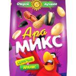 Ара Микс - семечки отборные с арахисом жареным, соленым  Вес 1 пакетика 80 гр. Упаковка 20 шт.