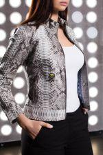 Куртка женская из кожи питона. Dandy Lab. В-5