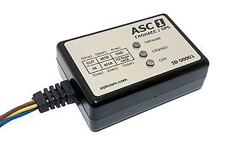 """Терминал ASC-1 1. Назначение и принцип работы   1.1. Абонентский телематический терминал ASC-1 предназначен для спутникового мониторинга стационарных и подвижных объектов (транспортных средств) с использованием систем ГЛОНАСС и GPS, регистрации показаний датчиков (уровня топлива и др.), а также работы с дополнительным внешним оборудованием. 1.2. Данные передаются по каналам сотовой связи GSM 900/1800 с поддержкой GPRS на выделенные серверы со статическими IP-адресами (до 4-х одновременно), в том числе по протоколу передачи EGTS (EraGlonassTelematicsStandard) в соответствии со спецификацией протоколов, предусмотренных Межгосударственным стандартом ГОСТ  «Глобальная навигационная спутниковая система. Аппаратура спутниковой навигации для оснащения колесных транспортных средств категории М и N. Общие технические требования», и доступны по сети интернет для просмотра и обработки на компьютере пользователя (диспетчера). 1.3. Специальное программное обеспечение в режиме on-line отображает местонахождение транспортных средств на карте, фиксируя дату и время, скоростной режим, маршрут следования, пробег, места и длительность стоянок (простоев), а также формирует отчеты. 1.4. Терминал имеет схему подзарядки внутренней аккумуляторной батареи Li-pol, а также защиту от перемены полярности (""""переполюсовки"""") и скачков напряжения до 1000В кратковременно.  2. Технические характеристики  1. Навигационный модуль  Спутниковые навигационные системыГЛОНАСС / GPS Погрешность координат, м2,5 Погрешность времени, нс15 Количество каналов (поиск/слежение)99/33 Среднее время «холодного старта», с25 Среднее время «горячего старта», с1 Чувствительность обнаружения, дБм148 Чувствительность слежения, дБм165 Ускорение, g4 Максимальная скорость, м/с515 Максимальная высота, м18000 Разрядность акселерометра, Бит16 Режимы измерения, g2/4/8/16 Чувствительность, mg/digit1/2/4/12 2. Модуль передачи данных  Стандарты передачи данныхGSM/GPRS Частоты, МГцGSM850/GSM900/DCS1800/PCS1900 Поддержка SIM-карт, В1.8"""
