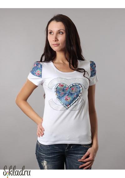 Футболки женские оптом дешево. Модели с яркой аппликацией.  Данные футболки женские оптом дешево от 180 руб.