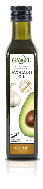 Масло авокадо GROVE AVOCADO OIL EXTRA VIRGIN. Первый холодный отжим со вкусом Garlic
