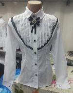 Блузка №52 Стойка брошка 408