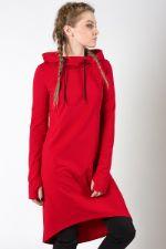 Платье-худи M-SQUARE Red