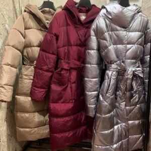 Длинна куртка с поясом