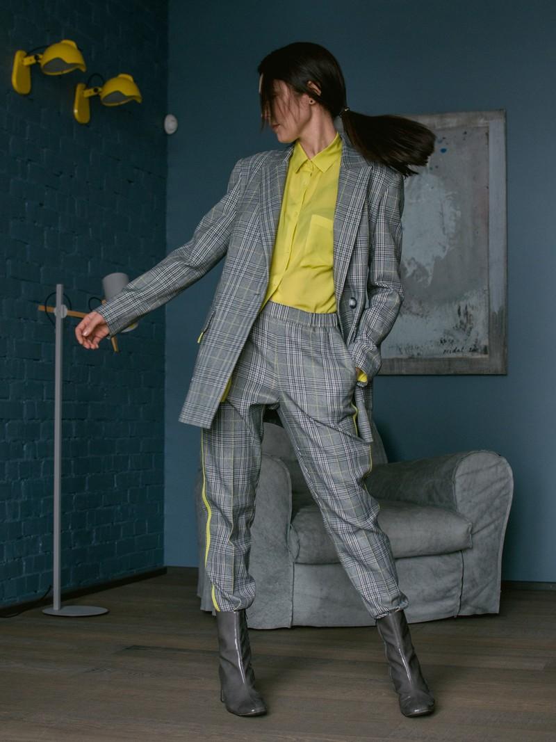 Жакет и брюки Yellow Check