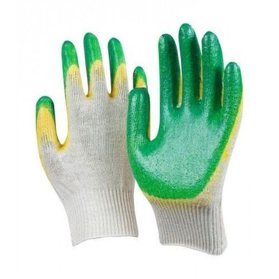 Перчатки трикотажные с 2 латексным покрытием - 16.5р