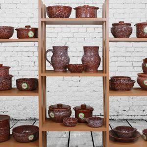 """Керамические изделия серии """"МРАМОР"""" - продолжение традиций гончарных изделий, создающихся на гончарном круге, но сделанных промышленным способом, помогут создавать кулинарные изыски по бабушкиным рецептам."""