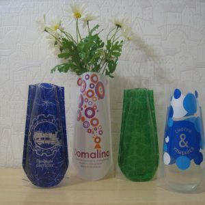 Складная ваза  с логотипом заказчика.
