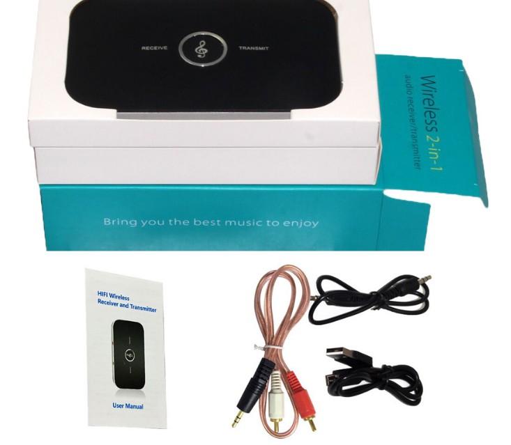 Беспроводной Bluetooth ресивер (приёмник) и трансмиттер (передатчик), 2-в-1 . Блютуз адаптер 2в1 bluetooth adapter