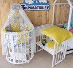 детские кроватки 7в1, 8в1 из массива бука и березы