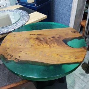 Стол, термокарагач, металлическое подстолье