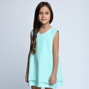 Платье Арт. 1.1301 Для особых случаев и на каждый день. Платье из тонкого трикотажа.  Состав: 92% хлопок, 8% эластан.  Доступные цвета: -какао (Арт.1.088) -молочный (Арт.1.0201) -ментол (Арт.1.1301) -пудра (Арт. 1.1508) -розовый (Арт. 1.3004) -черный (Арт. 1.3156) Размеры: 98, 104, 110, 116, 122, 128, 134