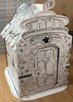 """Картонный игровой домик раскраска для детей / Подарок для детей / Развивающие игрушки ЩЕНЯЧИЙ ПАТРУЛЬ """"Универсальный"""" 10077000216"""
