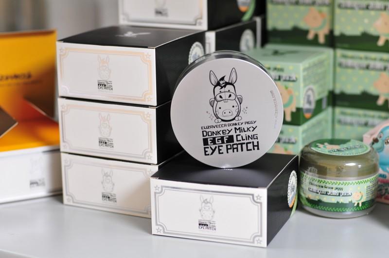 Elizavecca donkey piggy milky egf cling eye patch -  Патчи под глаза с ослиным молочком (большой размер)