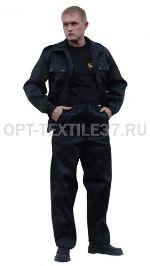 Костюм охранника чёрный