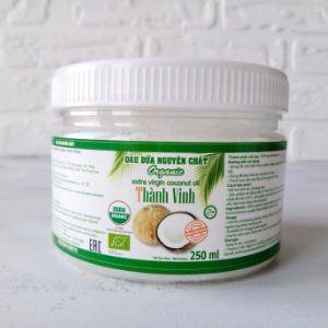 Кокосовое масло Organic Extra Virgin, ТМ Thanh Vinh, Вьетнам, бан. 250 мл