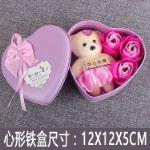 Подарочный набор мишка с розочками из мыла Y0001