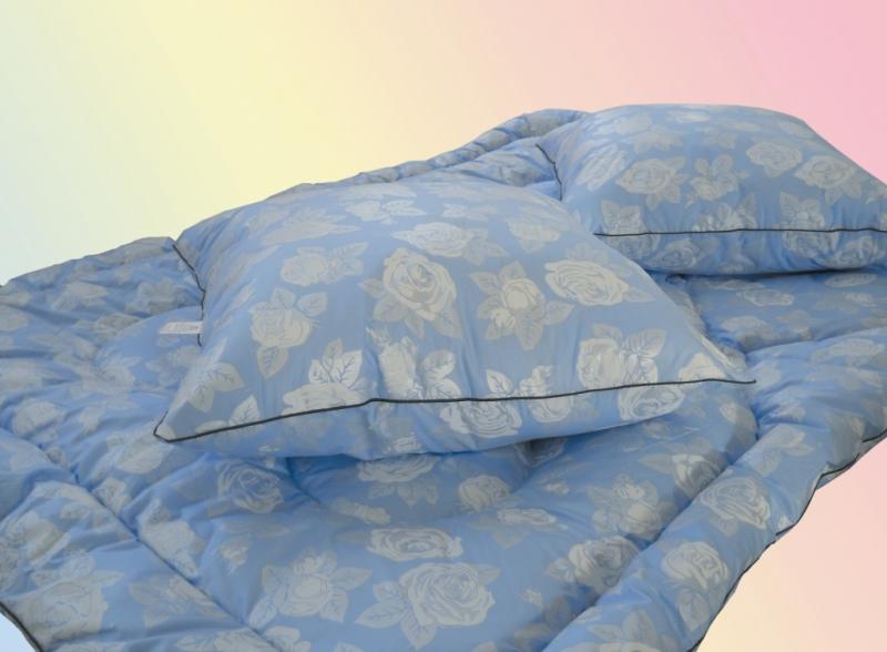Подушка- лебяжий пух                   70х 70, 50х70                   ткань тик( хлопок 100%) Одеяло- лебяжий пух( 300, 400 гр)                140х205, 172х205, 200х 220, 220х 240,                ткань тик