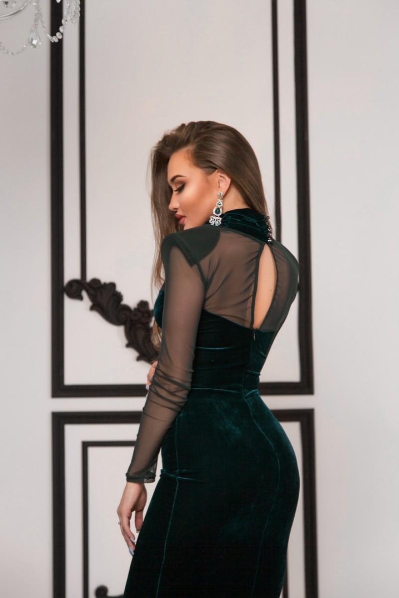Арт 366 платье Seems , ткань велюр . Цвета черный , темно зелѐный . Размеры S M.  Цена 2900