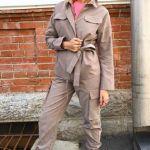 куртка и брюки Safari, цвета какао и хаки