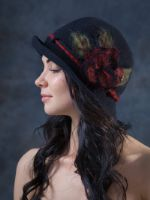 женские головные уборы шапки, шляпки