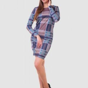 Платье Гая оптом по низкой цене. Материал: милано, состав: 80% полиэстер, 15% хлопок, 5% эластан. Цена производителя. Все в наличии на складе.  Широкий выбор, спеши купить! Фабрика Надежда.