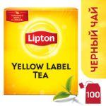 Черный чай в пакетиках Lipton Yellow Label 100 штук 4605922006688