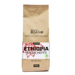Кофе натуральный жаренный в зернах, средне обжаренный, 100% Арабика сорт «Эфиопия Йоргачифф» 250 гр