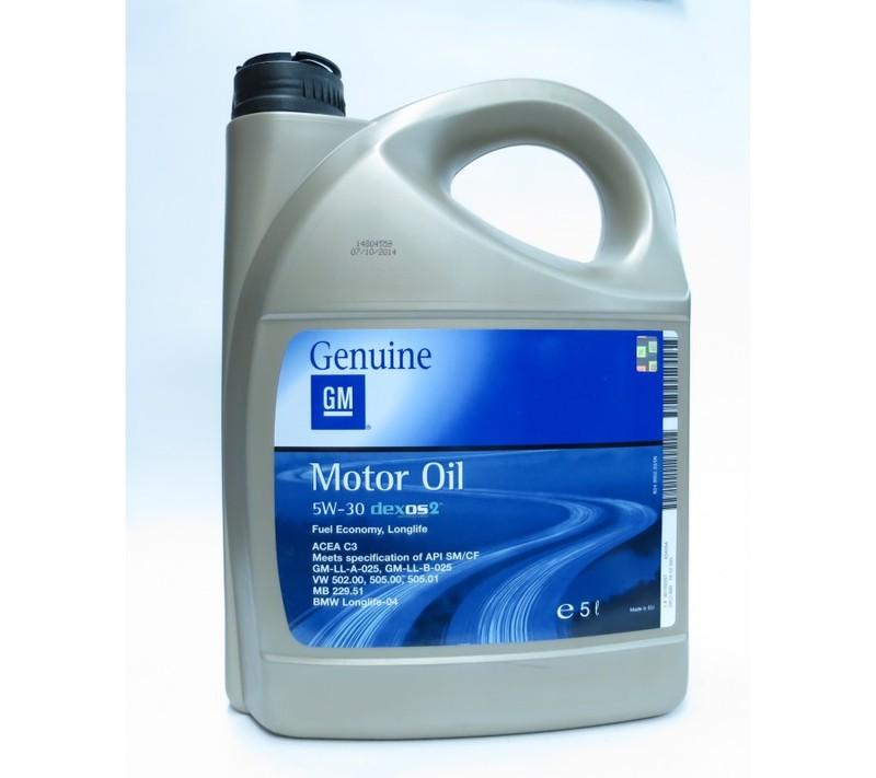 Моторное маслоGM 5W-30 DEXOS 2 Longlife 5W30 5L