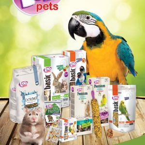 Широкий ассортимент кормов для птиц и грызунов