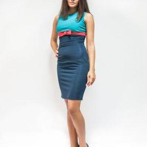 """платье без рукава """"три цвета"""". размеры 42,44,46,48"""