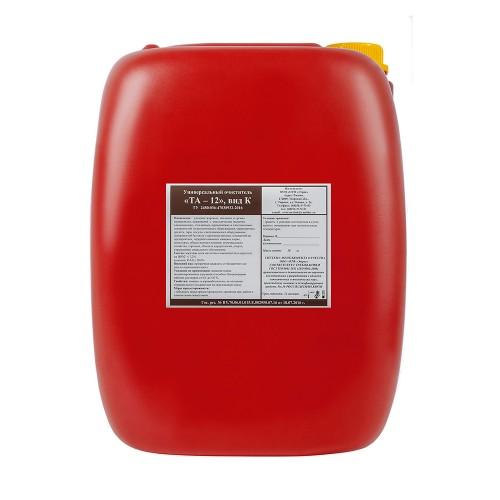 """""""ТА— 12К"""" — Универсальное нейтральное средство для мытья и обезжиривания любых поверхностей и материалов. Применение в поломоечных и ковромоечных машинах."""