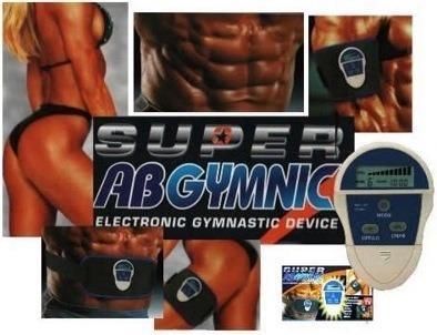 Пояс-миостимулятор Super AB Gymnic. Super Ab Gymnic — это электронное устройство, которое с помощью электрических импульсов заставляет мышцы безболезненно сокращаться.
