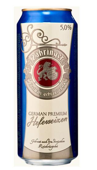 Пиво ZAHRINGER Hefeweizen (Царингер Хефевайзен)             страна производитель Германия ж.б. 0,5 л. алк. 5,0% экстрактивность сусла 11,7% Светлое, пастеризованное, нефильтрованное пиво. Состав: вода, пшеничный и ячменный солод, экстракт хмеля, дрожжи. Пшеничное нефильтрованное пиво продолжает традиции немецкого эля. Имеет легкий фруктовый (банановый) вкус с пряными нотками гвоздики. Это освежающее пиво особенно хорошо в летнюю жару.