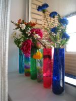Удобная ваза - складная ваза для  ВЫСОКИХ цветов 34-15