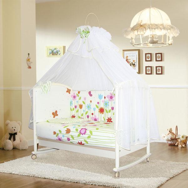 """Комплект в кроватку """"Лето"""". Удивительный нежный, летний комплект со съемными чехлами состоит из 7 предметов"""