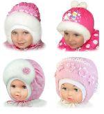 Зимняя шапка для новорожденной З-Я-Девочка