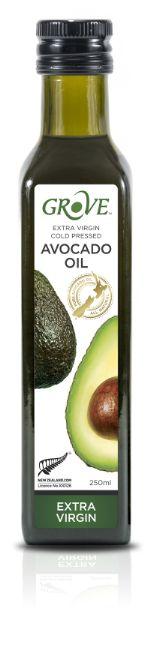 Масло авокадо Новая Зеландия GROVE Нерафинированное Первый Холодный Отжим Классика Extra Virgin, 250 мл,стекло