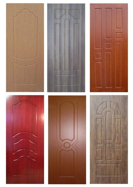 железные двери в видном с напылением