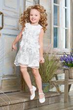 Платье белое, расшитое цветами 04.06