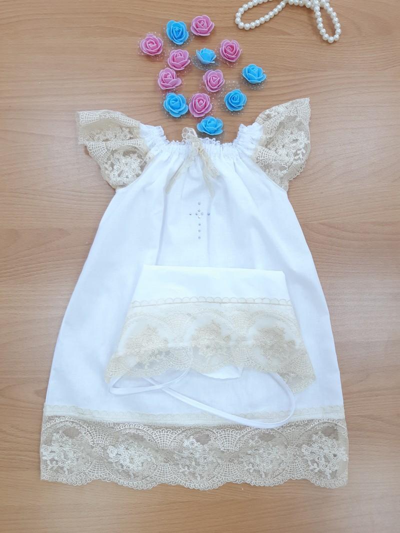 платья для крещение .состав (100%хлопок )поплин  размер от 0 до 6 месяца  размер от 6 до 12 месяца