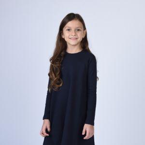 Платье Арт. 3.3140 Идеальное платье на каждый день. Отлично смотрится с кедами!!! Доступно для заказа в 3-х цветах: -темно-синий (Арт. 3.3140) -молочный (Арт. 3.3005) -кофейный (Арт. 3.3025) Размеры: 104, 110, 116, 122, 128, 134. Состав: 100% хлопок.