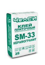Клей плиточный цементный усиленный ЧелСИ SM-33