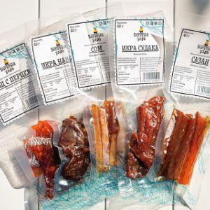 Вяленая икра, вяленая рыба в вакуумных пакетах по 40 гр