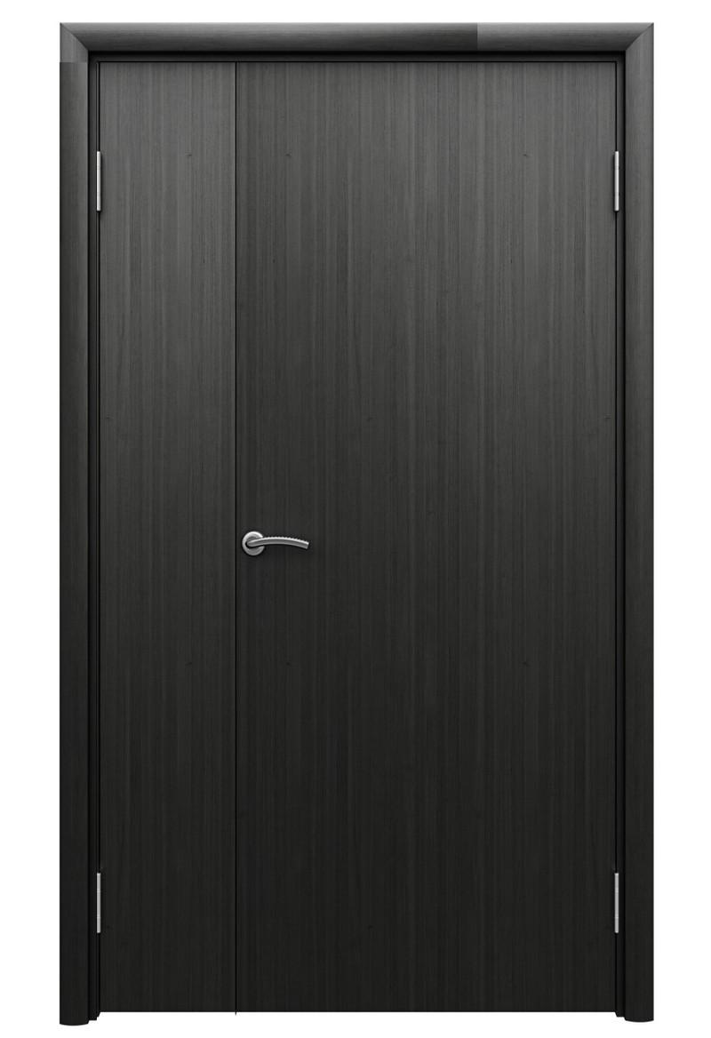 Пластиковая гладкая венге дверь Aquadoor полуторная