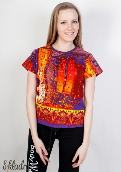 Футболки женские оптом от 140 руб.. Яркие, красочные и стильные футболки женские оптом от 140 руб., производство Индия, состав - 100% хлопок.